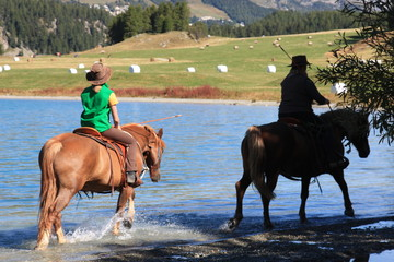 Reiten in den Bergen - Horse ride in the mountains