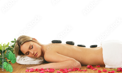 Young woman getting a spa treatment