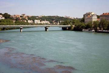 The Rhone in Lyon, France