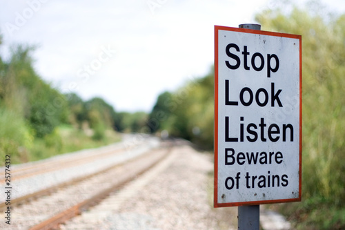Train danger sign