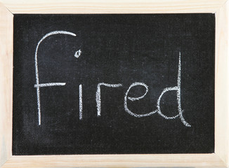 Board with Fired.