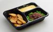 Leinwandbild Motiv school lunch meal cafeteria take-away hospital