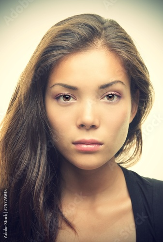 Beautiful woman portrait - serious look