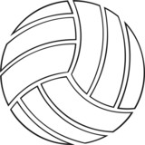 Volleyball Vinyl Ready Vector Illustration