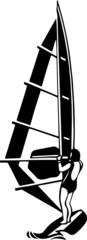 Wind Surfer Vinyl Ready Vector Illustration