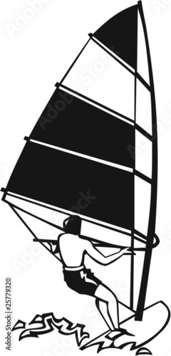 Wind Surfer Vinyl Ready Vector Illustration