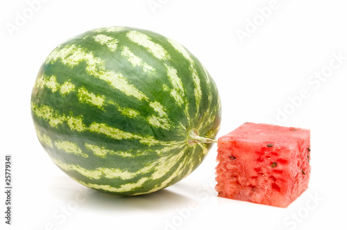 piece of watermelon and watermelon