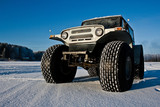 SUV on big wheels