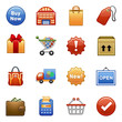Stylized icons. Shopping.