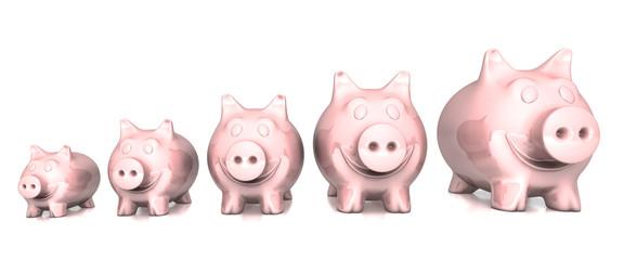 Sparschwein Familie