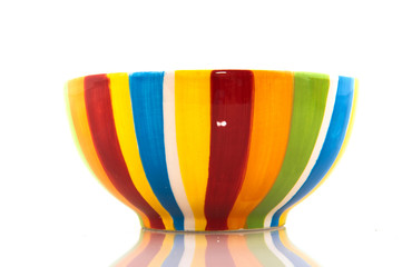 Colorful striped bowl