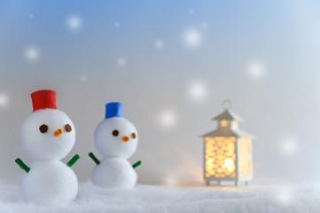 雪だるまとキャンドル