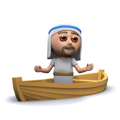 Jesus speaks from a boat