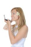 Bride dye eyelashes. poster
