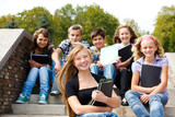 Teenagers with books - Fine Art prints