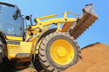 loader at construction work