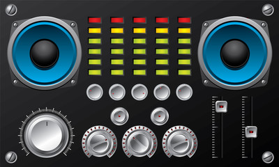 Amplifier with controls and equalizer
