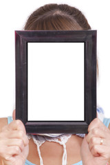empty frame for face
