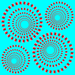apparent motion. eccentric rotating circle. optical illusion