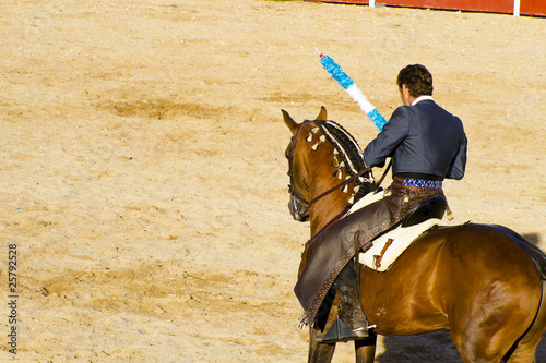 MADRID, SPAIN - SEPTEMBER 10: spanish  bullfight. September 10,