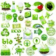 Detailed eco and bio icons collection