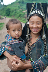 Hill tribe in Phongsal, Laos