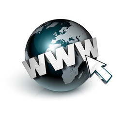 planète terre globe internet www curseur