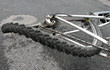Leinwandbild Motiv Achter - bent bicycle wheel