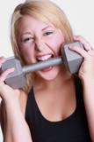 pretty blond weightlifter poster