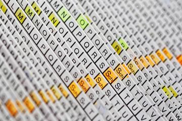 Bürokratie Register Kartei Alphabet Ablage