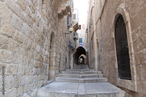 Ancient Alley in the Jewish Quarter, Jerusalem, Israel