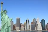 The Statue of Liberty and Manhattan skyline, New York City - 25811507