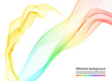 Fototapety abstract colorful smoke, vector background