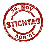Stichtag 30. November / vektor poster