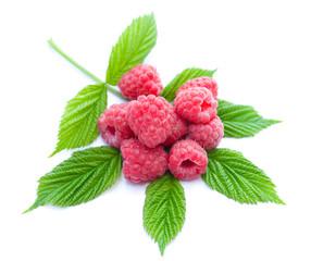 heap of ripe raspberries