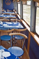 Cafe aboard a ship