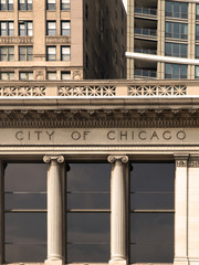 City of Chicago Lettering in an old building facade