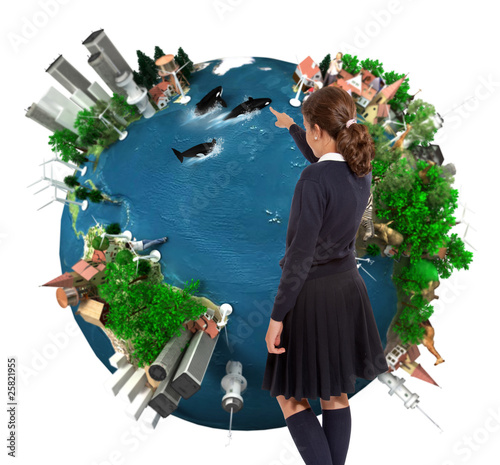 The Earth by a schoolgirl