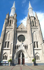 cathedral church of jakarta, indonesia