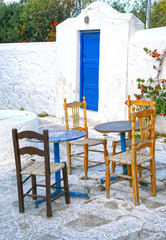 Mykonos Outside Seating, greece