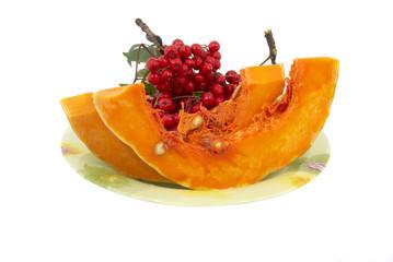 Pumpkin on a dish