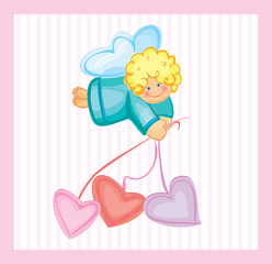 Cute card of small angel.