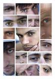Yeux regard visage jeune homme masculin garçon poster