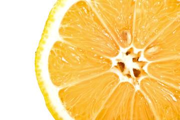 Zitronenhälfte Querschnitt