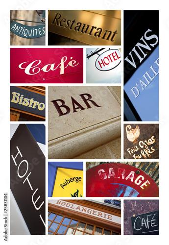 Commerce magasin enseigne logo symbole