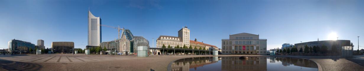 360 Grad vom Leipziger Augustusplatz