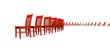 3D Stuhlreihe - Rot  03