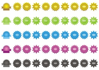 Set of vector badges