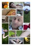 Détente homme masculin sommeil sieste zen relaxation poster