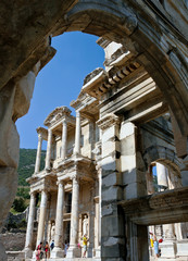 View of the Celsus Library, Ephesus, Turkey